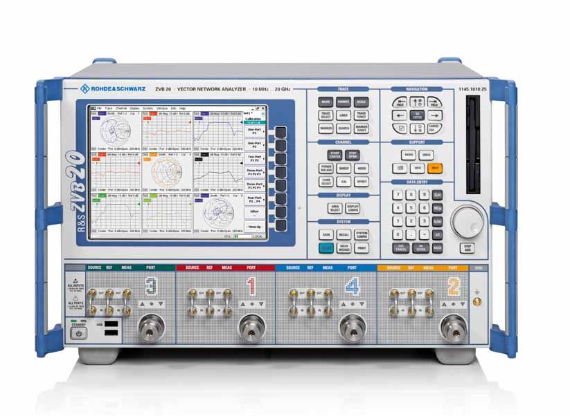 R&S ZVB Vector Network Analyzer At a glance Built using innovative hardware and software concepts, the vector network analyzers of the R&S ZVB family set new standards: One generator can feed two