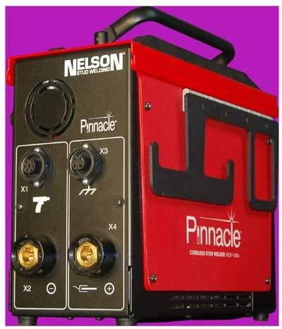 Nelson s first stud welder powered exclusively by a rechargeable battery.