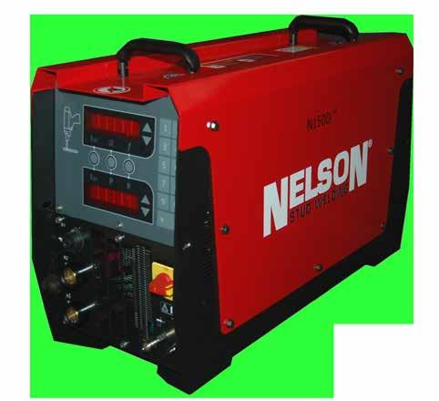 N800i Stud Range: 3/16-1/2 (4 mm - 12 mm) A 2 year or 1,000,000 weld warranty comes with all Nelson equipment. The welding processes supportedby this unit are Drawn Arc, Gas Arc, and Short-Cycle.