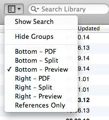 Display fields You can choose how many information fields EndNote displays in the library window and determine the order in which they are shown. Go to EndNote x7 Preferences Display fields.