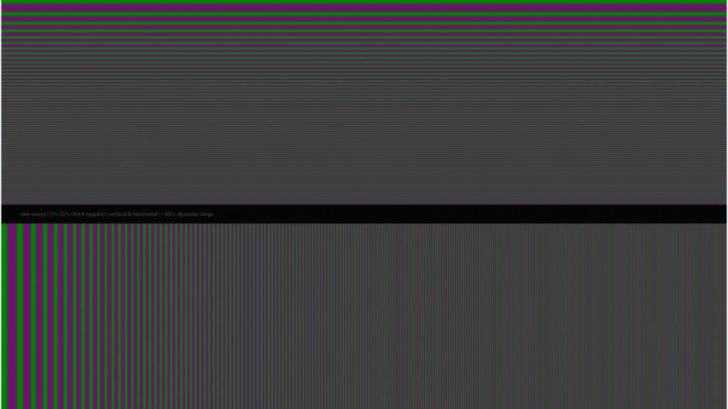 (examples): Chroma Resolution Test Pattern: Provides a quick human