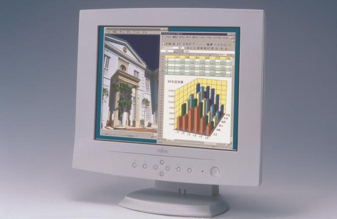 The VL-1500T liquid crystal monitor (Figure 6) is our first product to feature MVA technology. The display quality of this monitor from directly in front is almost as good as that of CRTs. 7.