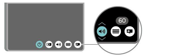 3 - Press up or down to adjust the volume or tune to the next or previous channel.