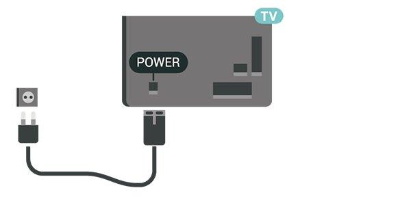 Although this TV has a very low standby power consumption, unplug the power cable to save energy if you do not use the TV for a long period of time.