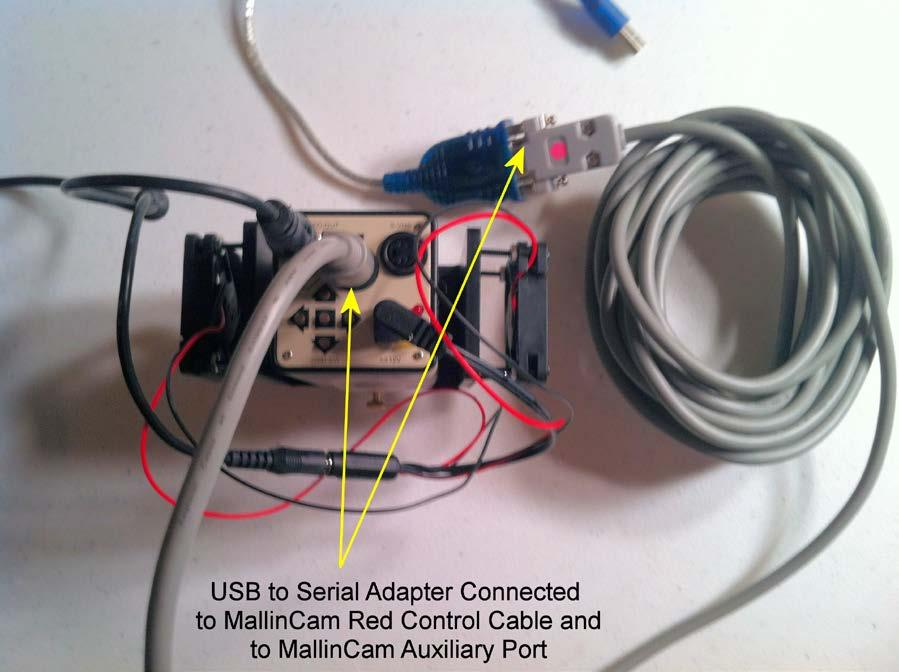 Figure 14 shows the addition of the Control Cable to the MallinCam.