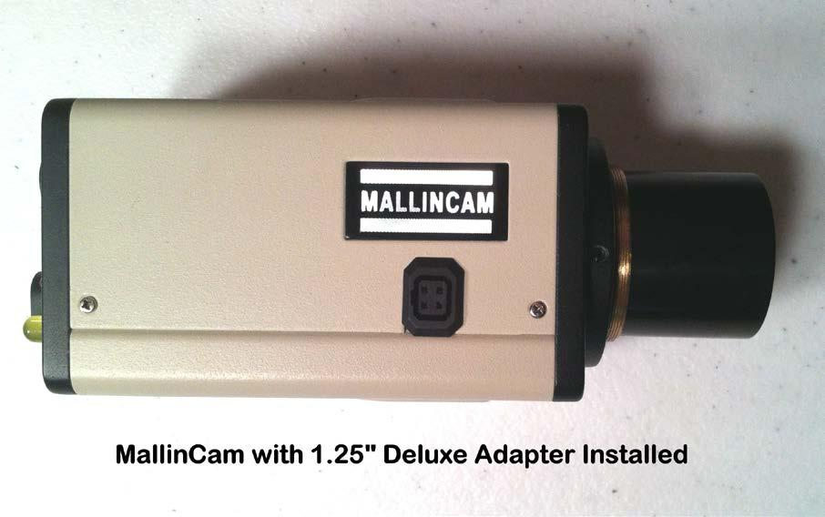 FIGURE 2 Use the Deluxe Adapter if no focal reduction is desired. The MallinCam will provide a field of view similar to that of a 8mm eyepiece with a 50-degree field of view (FOV).