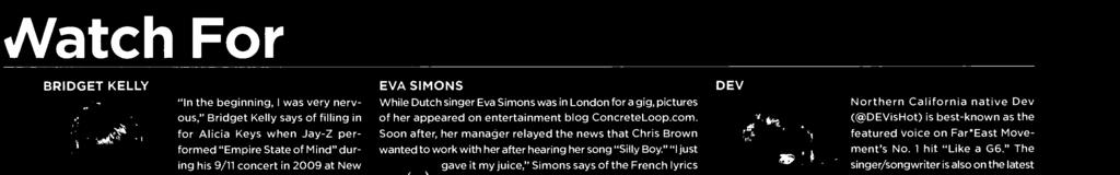 """ "" just gave it my juice,"" Simns says f the French lyrics she wrte and sings at the beginning f ""Pass Out,"" a Eur /dance track featured n Brwn's 009"