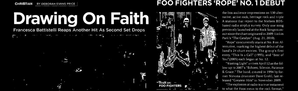 ". ""Wasting Light"" arrives April as the fllw-up t 007's ""Eches, Silence, Patience & Grace."" The band, created in 99 by frmer Nirvana drummer Dave Grhl, last released ""Greatest Hits"" in Nvember 009."