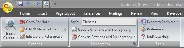 Click on Update Citations and Bibliography for onetime automatic formatting. o Wrong formatting?