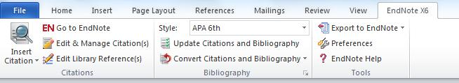 Open EndNote s CWYW menu by choosing Tools, Cite While You Write. Click on Insert Selected Citation(s) If you have already saved your document you will receive the below pop-up box.