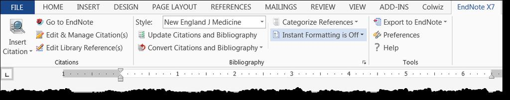 To select or deselect an Output Style from the menu in EndNote: Edit > Output Styles > Open Style Manager Check or un-check Output Styles [image at left] to appear in EndNote menu