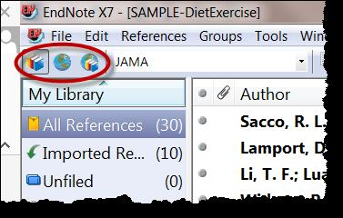 Tools > Define Term Lists highlight Journals and click Import List C:\ProgramFiles\EndNoteX7\TermLists highlight Medical.txt and click Open. Click OK; click Close in the Term Lists window.