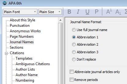 EndNote Using (Journal) Abbreviations Definition of abbreviation in Journals Term List Choosing abbreviation in selected Output Style Ulrich Fischer 02.