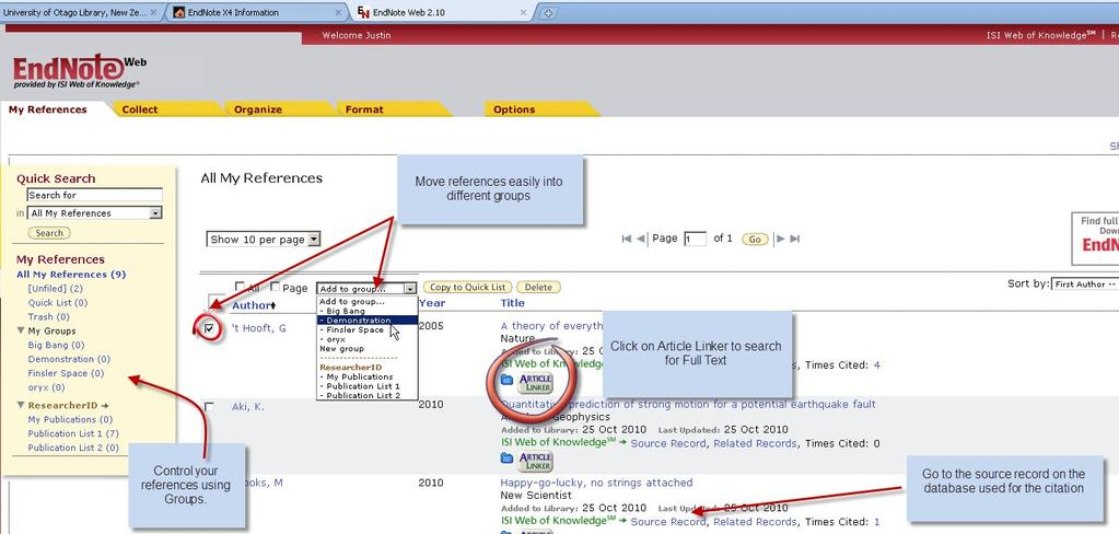 Using EndNote Web When you buy EndNote Desktop, you get free access to EndNote Web.