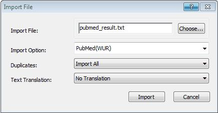 Add references to a library 3.14.2 Import a PubMed download into a library 1. Start EndNote. Create a new library 5 or open 6 an existing one. 2. Select Import... from the File menu and choose File.
