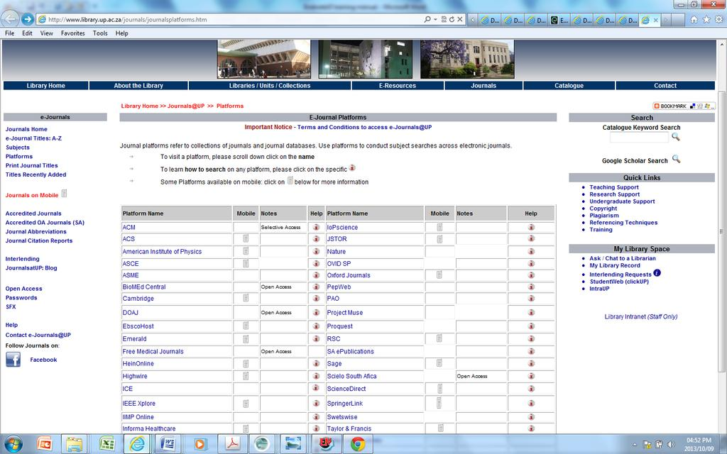 Library website http://library.up.ac.