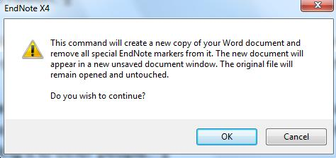 When you send your word document to other people, you cannot assume that they have or use EndNote software.