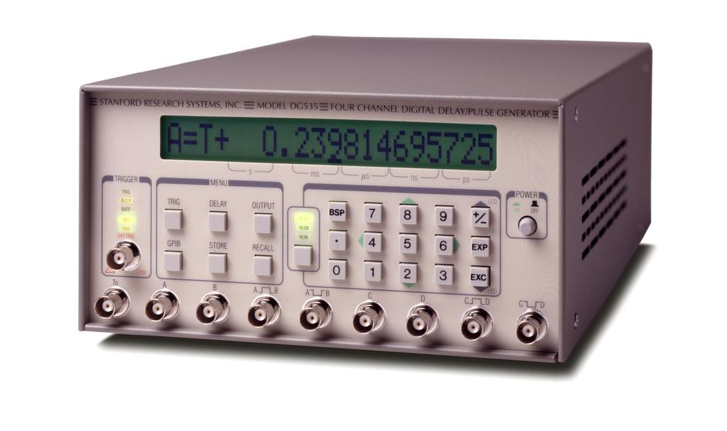 Digital Delay / Pulse Generator Digital delay and pulse generator (4-channel) Digital Delay/Pulse Generator Four independent delay channels Two fully defined pulse channels 5 ps delay resolution 50