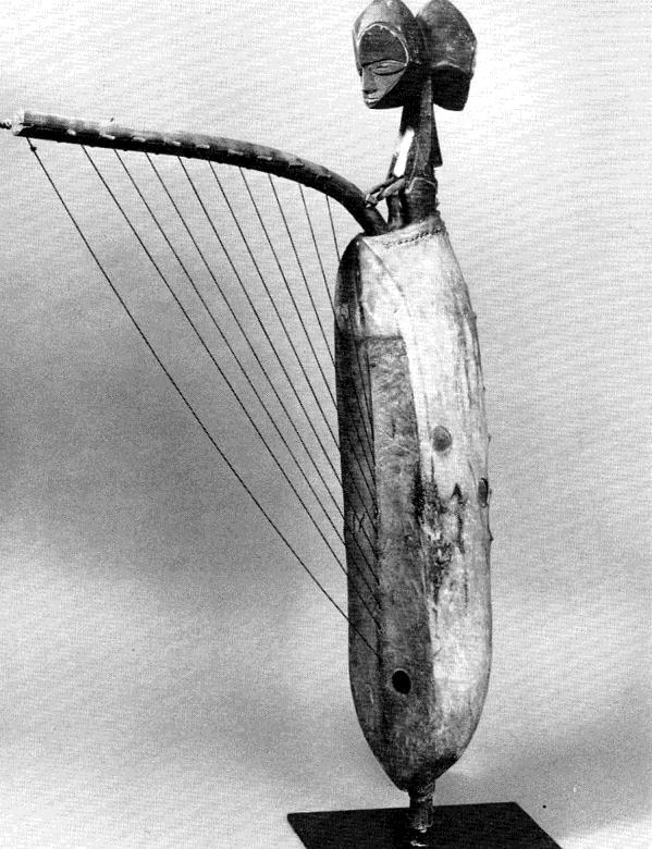 Harp Harps are the main stringed instrument in Africa. They are quiet instruments that usually accompany a singer/storyteller/poet.