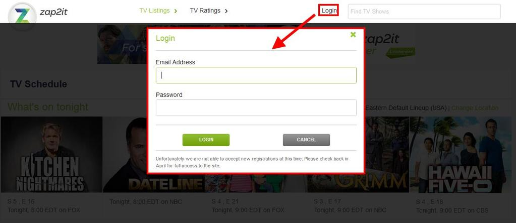 Log In: Logged in users are able to save their localization preferences and favorite channels.