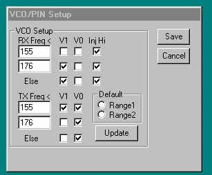 You should press one of the Band radio buttons (Low, VHF or UHF) before pressing the Read Module button so that the program can be certain how to handle the frequency list returned from the module. 3.