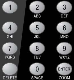 Alphanumeric Keypad Enter the desired channel number and then press the ENTER button.