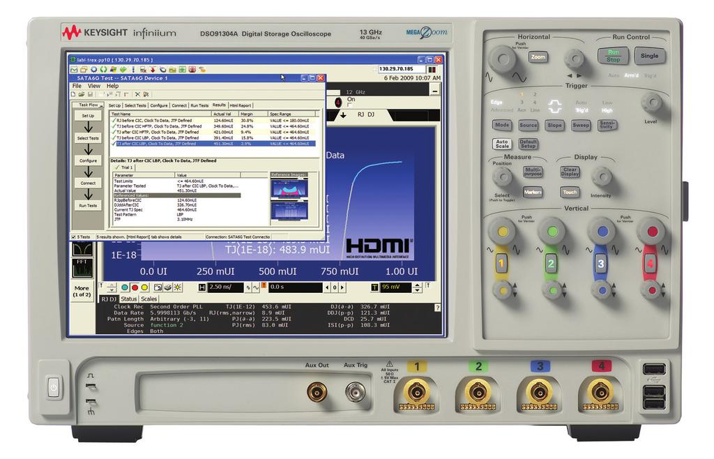 11 Keysight HDMI and DisplayPort Design and Test A Better Way - Application Note Keysight HDMI and DisplayPort Solutions 90000A Series Infiniium Real-time Oscilloscope The Keysight 90000 Series