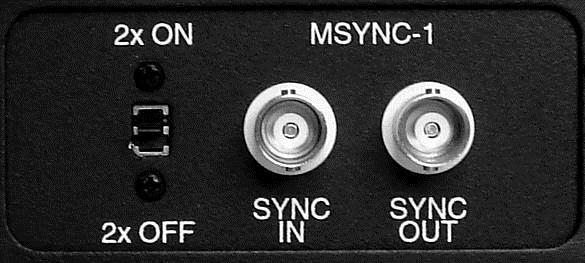 For A-to D Clocking Modes, there are three options: -For Internal Clock operation set the far right switch on the M SYNC to INT.
