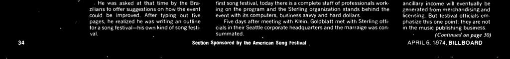 the idea of there being a song festival for pros and amateurs in the United States.