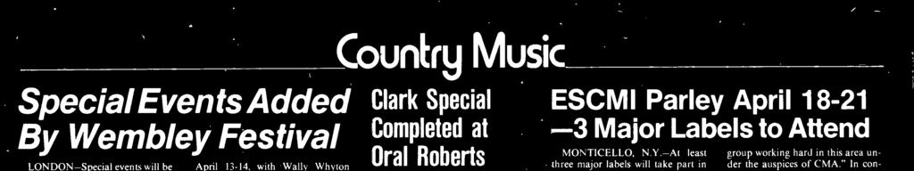 Wright, The Oak Ridge Boys, Johnny Rodri- (Continued on page 61) Oral Roberts TULSA -Production for the first syndicated television special for Roy Clark was completed here last week at Oral Roberts