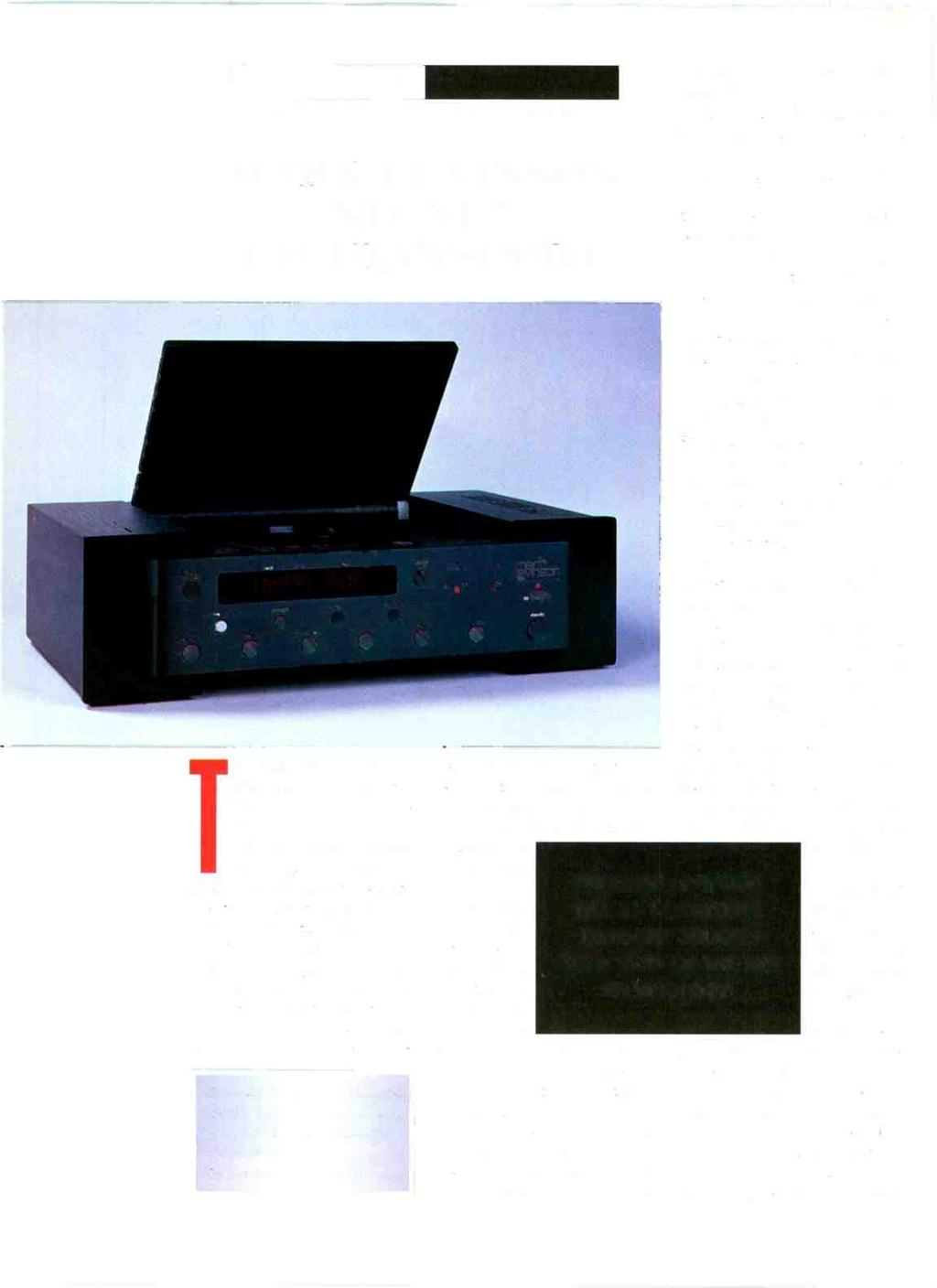AURICLE ANTHONY H. CORDESMAN MARK LEVINSON NO. 31.5 CD TRANSPORT The Mark Levinson No. 31.5 is truly of reference quality.
