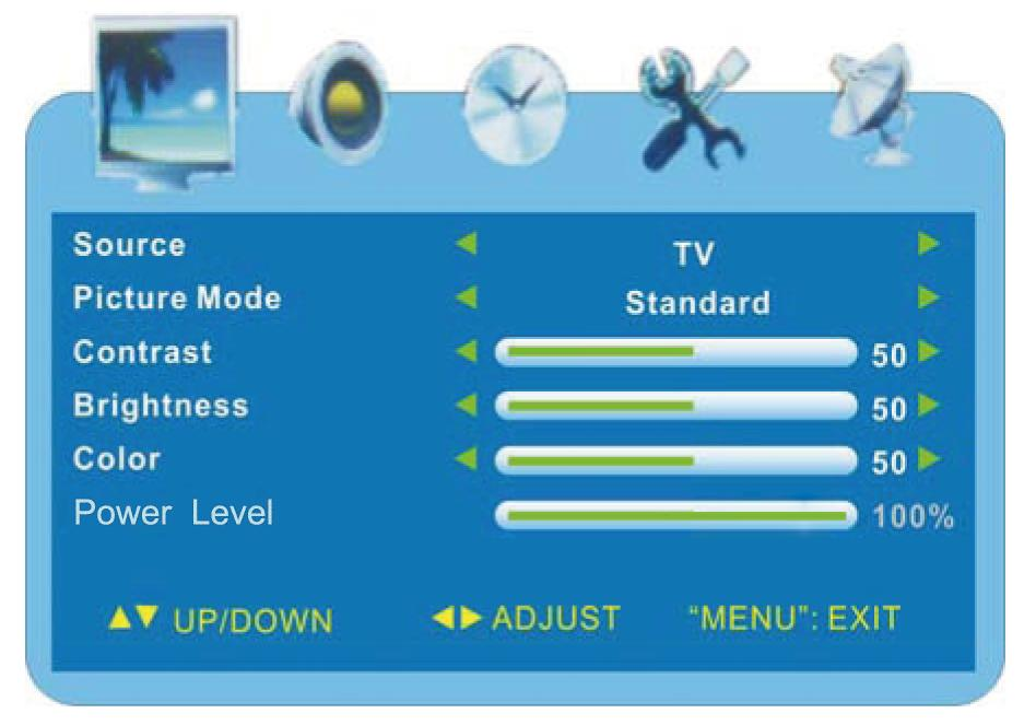 Display Options & Channel Setup Use the on-screen menus to adjust the picture, audio, channels and other functions.