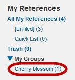 Click on the New Group button. 3. Give the group a name and click OK. To add references to your group: 4. Click the My References tab. 5.