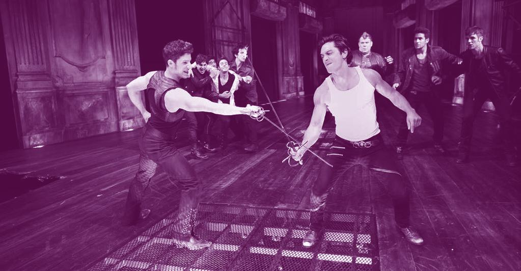 A PLAY COMES TO LIFE photo by Liz Lauren FROM LEFT: ZACH APPELMAN AS TYBALT AND ARIEL SHAFIR AS MERCUTIO IN IN CST S 2010 PRODUCTION OF ROMEO AND JULIET, DIRECTED BY GALE EDWARDS.