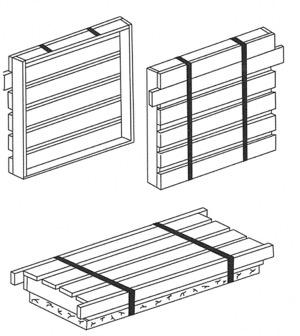 Crating Specifications Split crates for dies Top crating only for bases All pieces must be marked with your company name and unit number and Mid-Atlantic Convention Crating that does not follow these