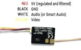 Video transmitter pinout TBS UNIFY PRO V2 5G8 Despite being plug and play with the TBS CORE, TBS CORE PNP PRO, PNP25,