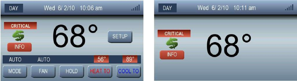 SMART ENERGY FEATURES Price Event Notification When a price event becomes active, the Home Active and the Home Inactive screens will both display the Price Event icon, as shown in Fig. 47.