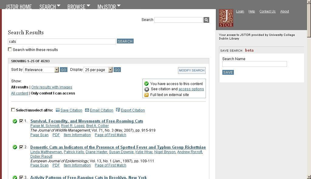JSTOR Search for references in JSTOR Select relevant references Click on Export Citation Click on RIS file (EndNote ) as export option