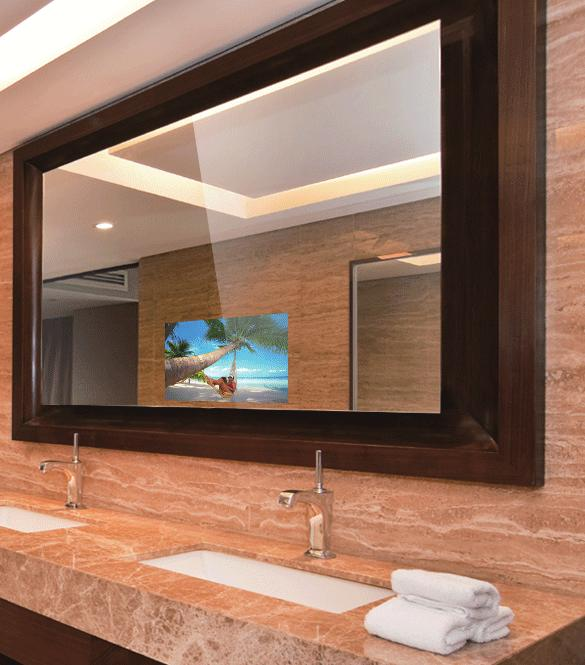 WHAT IS MIRRORVUE? MirrorVue has a completely vanishing TV with sizes from 15.6 up to 75. MirrorVue offers the largest mirror TV's on the market! Up to 8' x 19'/ 243cm x 579cm.