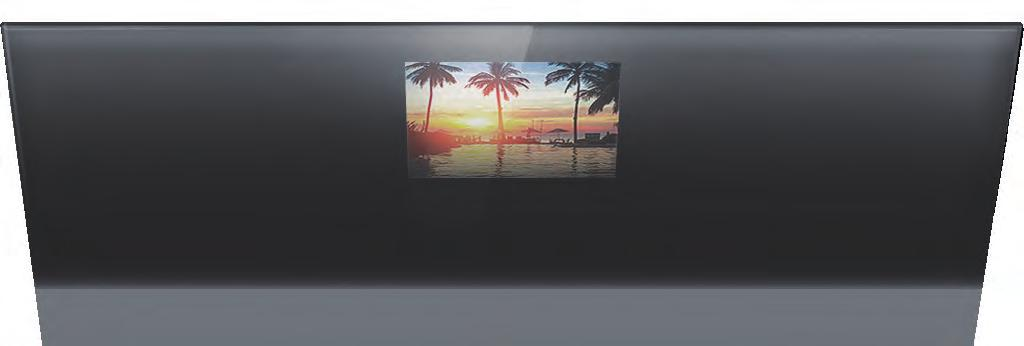 TV vanishes 90% when  Tinted Mirror Brighter TV image