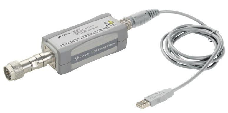 07 Keysight U2000 Series USB Power Sensors - Data Sheet Take a Closer Look LED indicator for PC communication Built-in triggering port for synchronization with external instruments or events Small