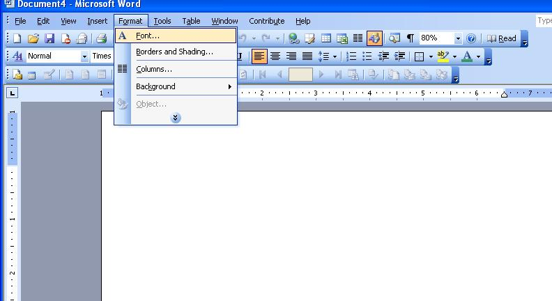Formatting the paper Word 2003 Select a