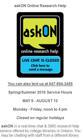 askon Chat with library staff on