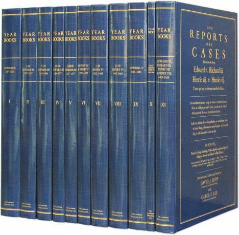 Early English Law with New Apparatus by David J. Seipp With New Introductory Notes and Tables in Each Volume Naming all Justices and Serjeants, and Listing Calendar Years of Law Terms, by David J.