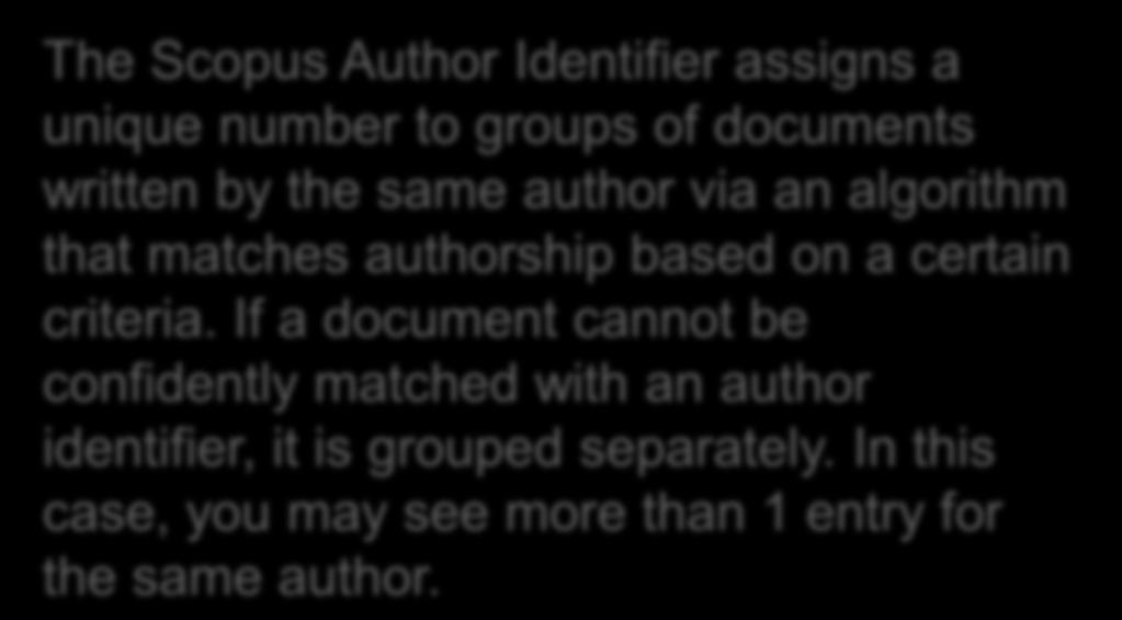 algorithm that matches authorship based on a certain criteria.