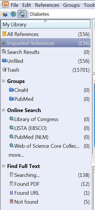 ly/1prl15b Using Ctrl+click, select one or more citations for which you want to download and attach full text. Click on References, Find Full Text, Find Full Text.