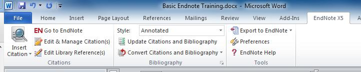 X. Placing references in a paper and formatting a bibliography using the Cite While You Write plug-in in Word.