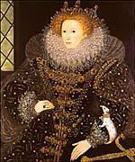 1590 s Queen Elizabeth I ruled English explorers were crossing the ocean
