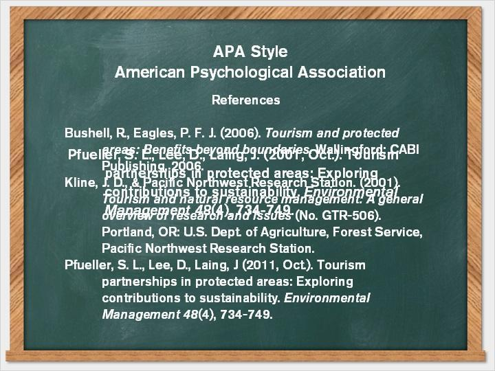 3.4 APA Style Here are some citation examples using the APA citation style.