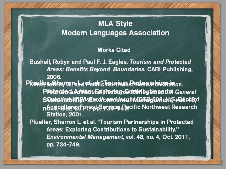 3.5 MLA Style Unlike APA, the list of sources at the end of the paper is called Works CIted in MLA.